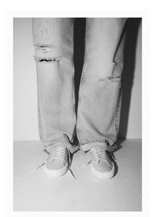 Мягкие кожаные кроссовки zara оригинал р.36