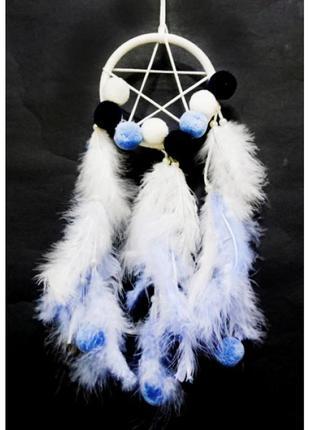 Ловец снов 1 кольцо звезда голубой фен шуй+подарок