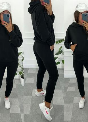 Костюм базовый турецкая двунить размер 42,44,46,48 цвет чёрный