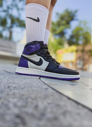 Кроссовки женские найк nike air jordan 1 retro high og court purple