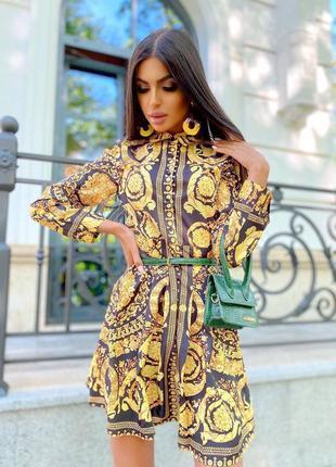 Платье рубашка в стиле барокко