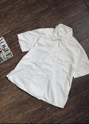 Очень красивая белая  хлопковая рубашка. оригинал