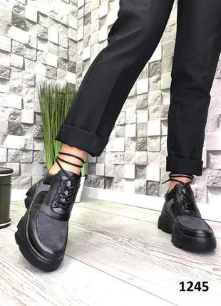 Женские кожаные демисезонные ботинки