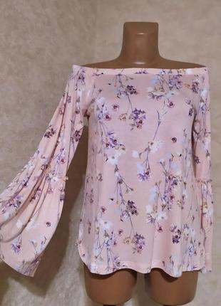 Трикотажная блуза со спущенными плечами, m/38