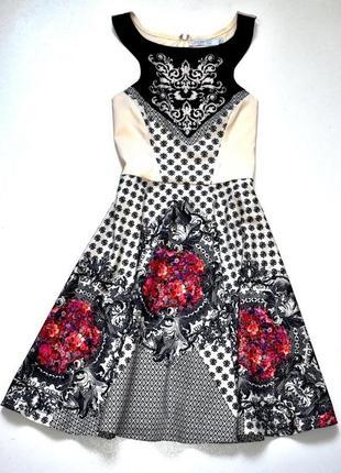 Ginger fizz красивое легкое платье с принтом хс-с