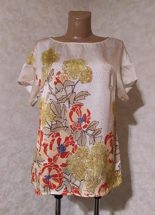 Шелковистая блуза с принтом, sisley, l