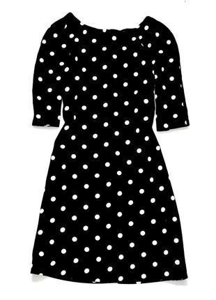 Atmosphere маленькое черное платье в белый горох. л.12.40