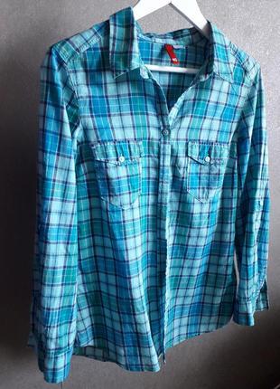💖 легкая рубашка в клетку от h&m divided