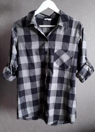 🌼 удлиненная рубашка в крупную клетку от new look, оверсайз