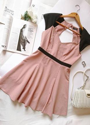 Мила пудрова🍦🍭 сукня/платье в горошок від miss selfridge, на р. s/м