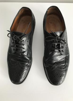 Черные кожаные мужские туфли, arfango, туфли италия.