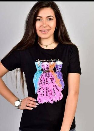 Женская футболка производство турция‼️ состав: 100% cotton