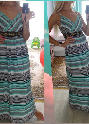 George красивое длинное платье сарафан для беременных в пол 46 48 m l