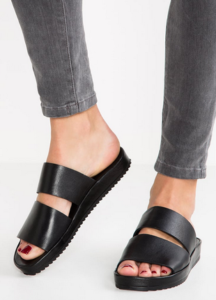 Новые мюли kiomi германия 100% кожа слайды шлёпанцы кожаные босоножки шлёпки сандалии