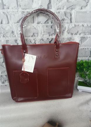 Женская кожаная сумка жіноча шкіряна шопер