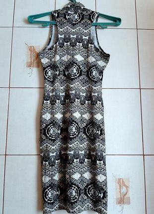 Натуральное платье из вискозы с этническим принтом2 фото