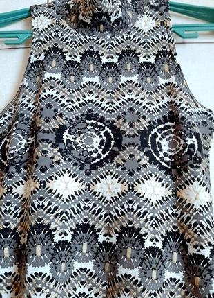 Натуральное платье из вискозы с этническим принтом5 фото