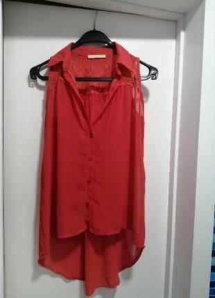 Блузка свободного кроя (ассиметрия)