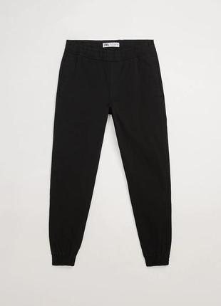 Штани чоловічі чорні джогери, штани джогери вузького крою.