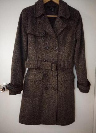 Пальто с шерстью zara