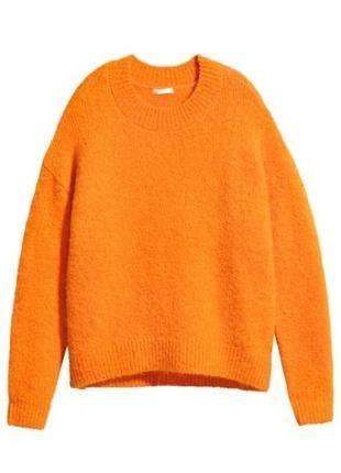 Тёплый оранжевый свитер2 фото
