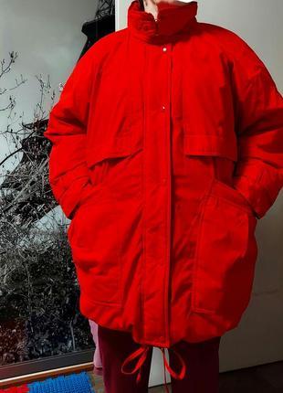 Теплющий пуховик зимняя куртка парка
