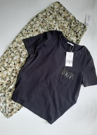 Zara футболка хлопок