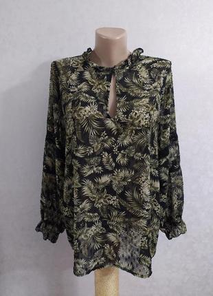 Zara роскошная блуза с актуальной вышивкой плюмети