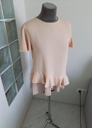 Блуза с коротким рукавом размер с zara
