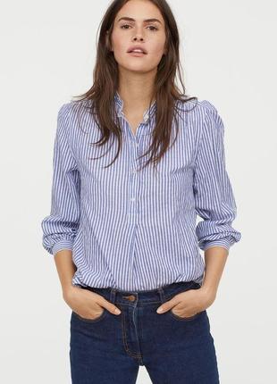 Новая хлопковая блуза, рубашка h&m, свободная