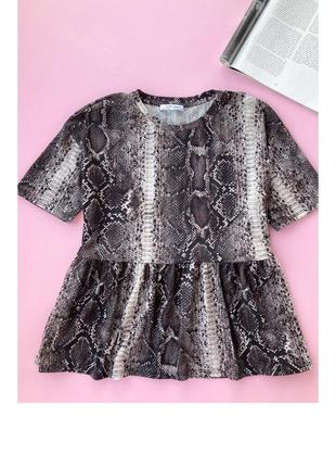 Zara, топ, футболка, анімал принт, рептилія, анимал принт,