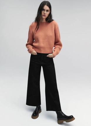 Укороченный свитер с длинными рукавами zara - xs, s, m