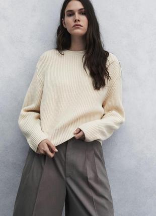 Укороченный свитер с длинными рукавами zara - m, l