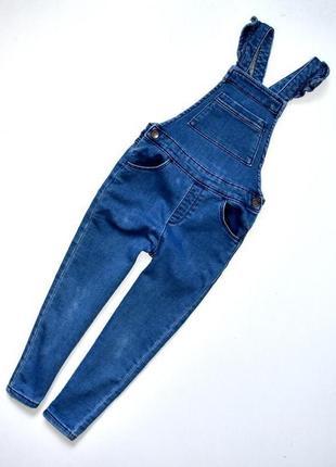 Mango джинсовый комбинезон на девочку 3-4 года