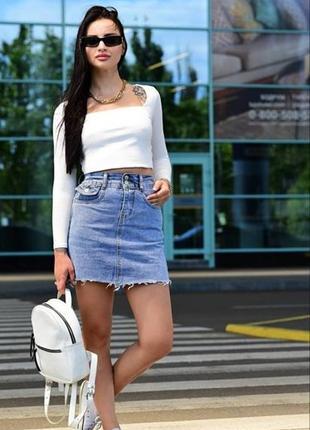 Стильная женская/подростковая юбка джинсовая.