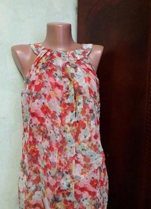 Шикарная легкая шифоновая блуза майка