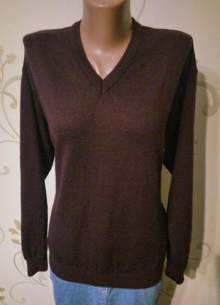 Maddison .100% merino wool . свитер джемпер пуловер цвет марсала . шерсть меринос .