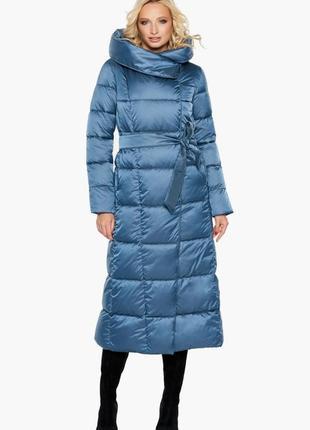 """Зимнее брендовое пальто воздуховик braggart """"angel's fluff"""", 31056 аквамарин, оригинал"""