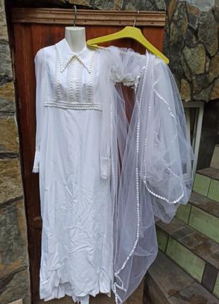 Платье свадебное винтаж