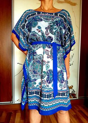 Красивейшее пляжное платье с актуальным этническим принтом