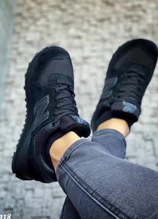 Чёрные кроссовки женские new balance
