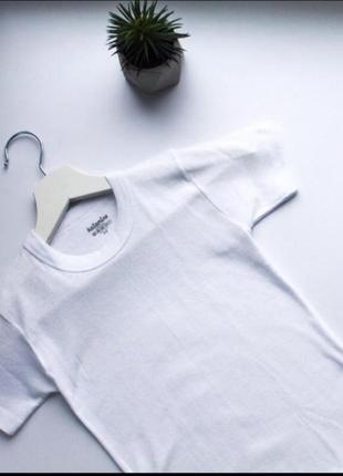 Футболка белая детская базовая біла базова футболка в школу в садок