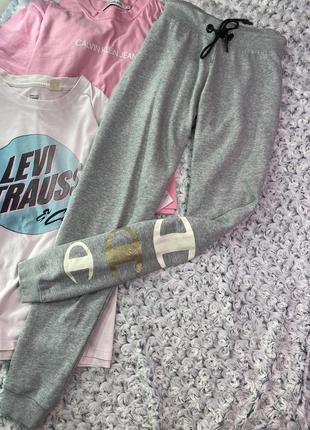 Меланжевые спортивные штаны, спортивки champion