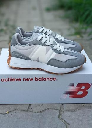 Женские кроссовки new balance future серые, замшевые, осенние