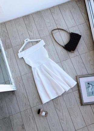 Белое платье сукня boohoo