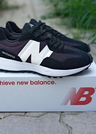 Женские кроссовки new balance future черные, замшевые, осенние