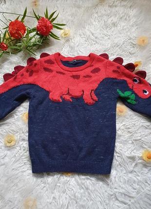Шикарный оригинальный хлопковый свитерок на 3-4 года!