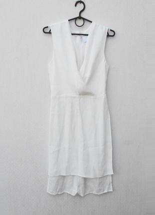 Белая нарядная удлиненная летняя блузка 🌿