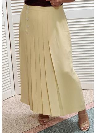 Красивая желтая длинная юбка l'anglaise