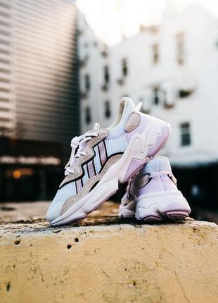 Женские кроссовки adidas ozweego white pink  36-37-38-39-40
